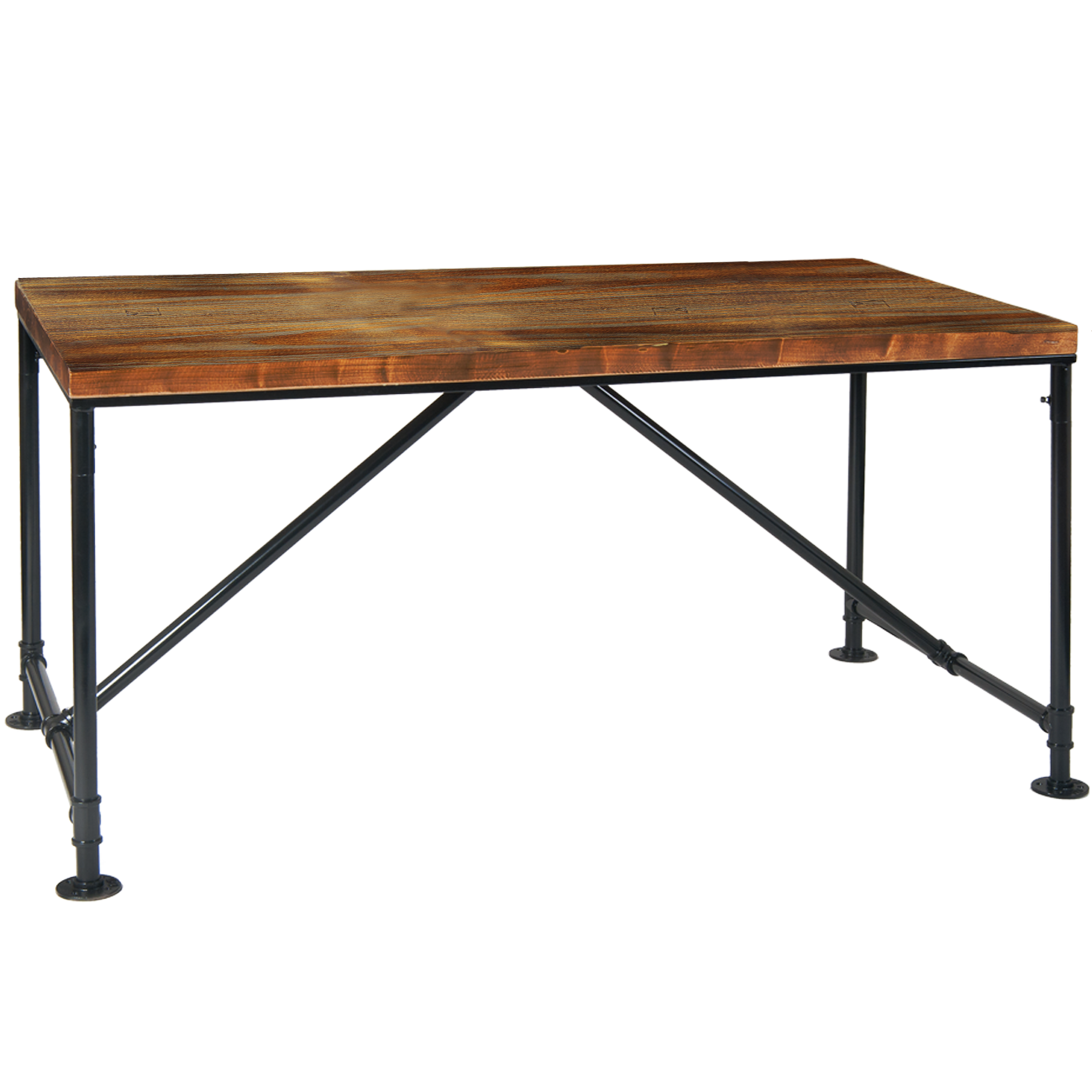 Superb 32 X 60 Pinewood Table Top W Black Pipe Metal Base Machost Co Dining Chair Design Ideas Machostcouk