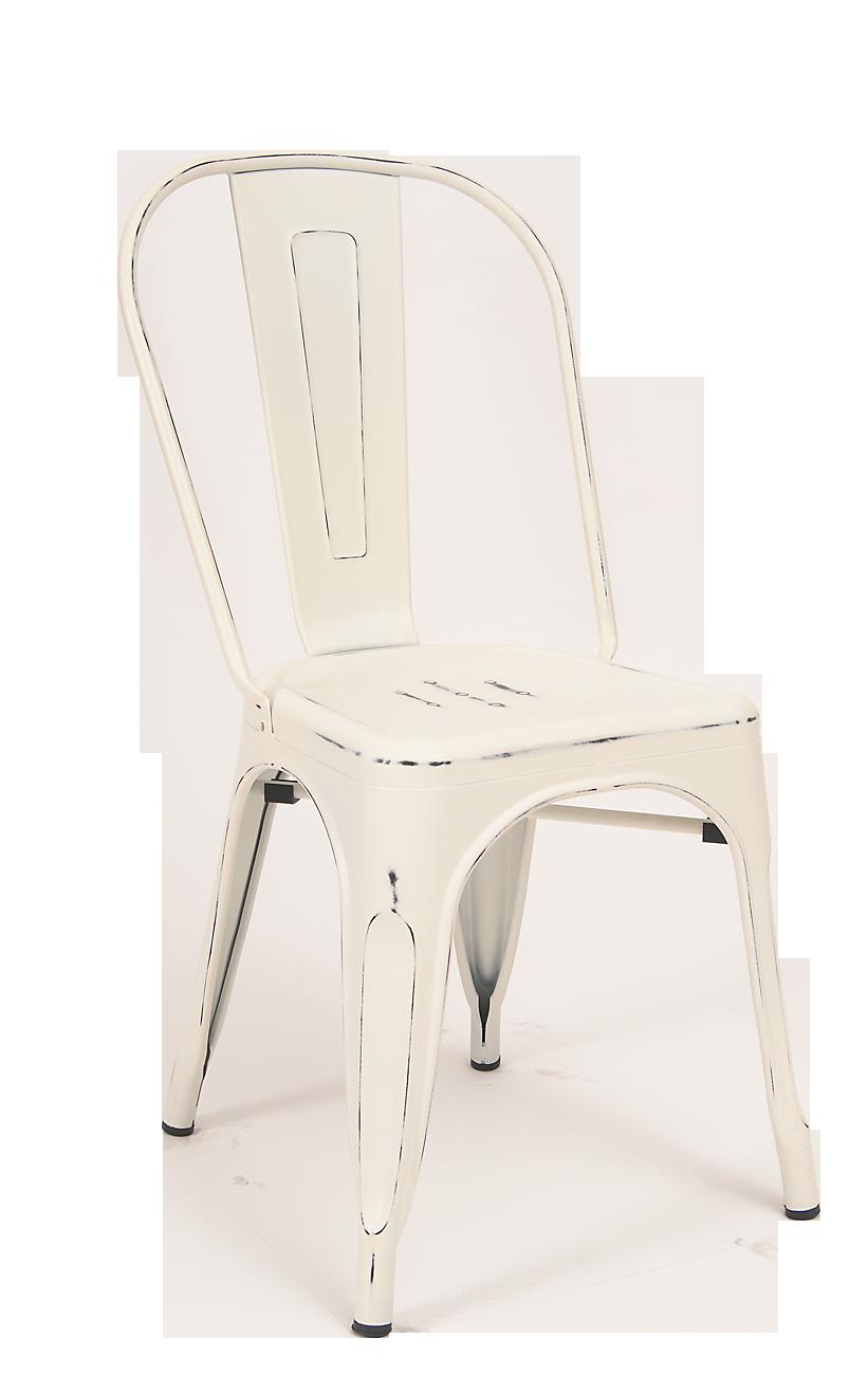 Pleasing Antique White Finish Tolix Metal Chair Restaurant Theyellowbook Wood Chair Design Ideas Theyellowbookinfo