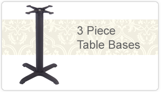 3 Piece Table Bases