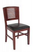 Beechwood Multi Slat Series Back Dark Mahogany Restaurant Chair