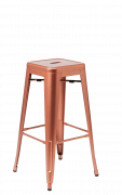 Copper Finish Metal Bar Stool, Backless, *FINAL SELL, NO RETURN/REFUND*