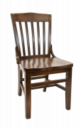 Elmwood Schoolhouse Chair w/ Walnut Finish Frame and Wood Seat