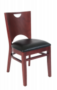 Beech Wood Chair in DM Finish with Black Vinyl Seat