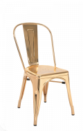 Steel Chair in Gold Finish