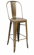 Steel Bar Stool in Brass Finish, Indoor Use