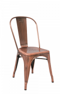 Steel Chair in Copper Finish