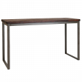 27.5''X70.75'' Elmwood BarTable Top w./ Taupe Grey color base