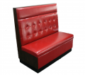 Tufted Back Red Vinyl Single Booth