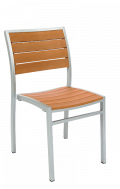 Aluminum Chair with Imitation Teak Slats