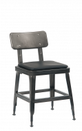 Gunmetal Steel Chair with Vinyl Seat