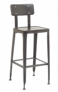 Indoor Clear Coat Finish Metal Barstool