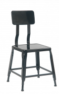 Black Finish Steel Chair