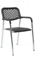 Aluminum Synthetic Black Rattan ArmChair