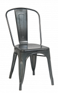 Galvanized Steel Chair in Cement Color