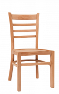 Ladder Back Teak Wood Chair in Natural Finish