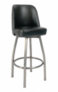 Clearcoat Frame, Swivel Metal Barstools