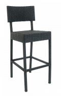 Aluminum Wicker Barstool without Arm