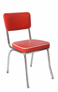 Red Vinyl Metal Chair
