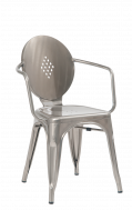 ClearCoat Finish Metal Armchair