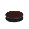 42'' Round Reversible Table Top, Black and Dark Mahogany