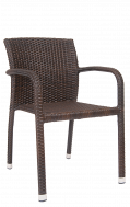 Rush Curve Side Aluminum ArmChair