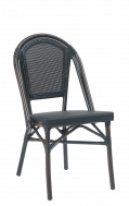 Outdoor Black Synthetic  Wicker Aluminum Chair
