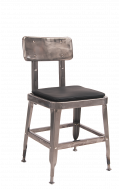 Clearcoat Steel Chair with Vinyl Seat