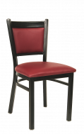 Burgundy Vinyl Metal Chair