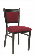 Burgundy Fabric Metal Chair