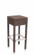 Backless Aluminum  Wicker Barstool