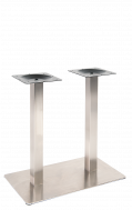 Heavy Duty Double Stainless Steel Table Bases