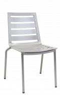 Outdoor Aluminum Chair with Multi-Slat Seat and Back