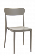 Outdoor Aluminum Chair in Grey Finish