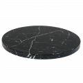 30'' Round Indoor Black Artificial Granite Table Tops