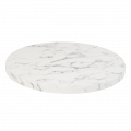 30'' Round Indoor White Artificial Granite Table Tops
