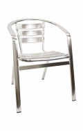 Aluminum Stack Chair with Armrest