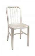 Aluminum Chair with Slat Back