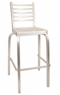 Ladder Back Aluminum Barstool