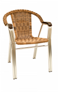 Synthetic Wicker Aluminum armchair, stackable