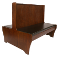 42''H Double Dark Mahogany Wood Booth