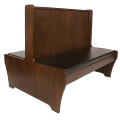 42''H Double Walnut Wood Booth
