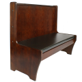 42''H Single Dark Mahogany Wood Booth, 48'' long