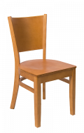 Beechwood Curve Plain Back Chair w/ Cherry Frame and Veneer Seat