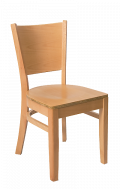 Beechwood Curve Plain Back Chair w/ Natural Frame and Veneer Seat