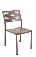 Metal Patio Stack Chair with Punched Square Hole