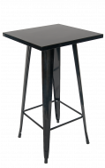 Metal Bar Table in Black Finish 24