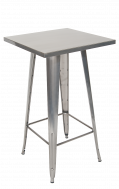 Metal Bar Table in Clear Coat Finish 24