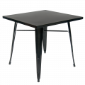 Metal Table in Black Coat Finish 30