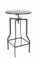 Adjustable Height Metal Bar Height Table, 24''Round