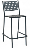 Basket Back Metal Patio Barstools